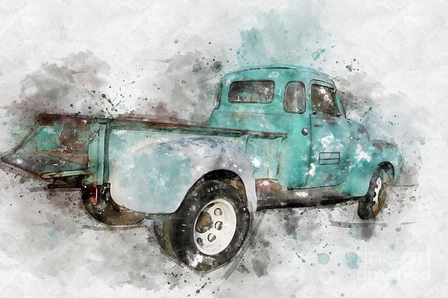 Classic Chevrolet 3800 Truck by Teresa Zieba