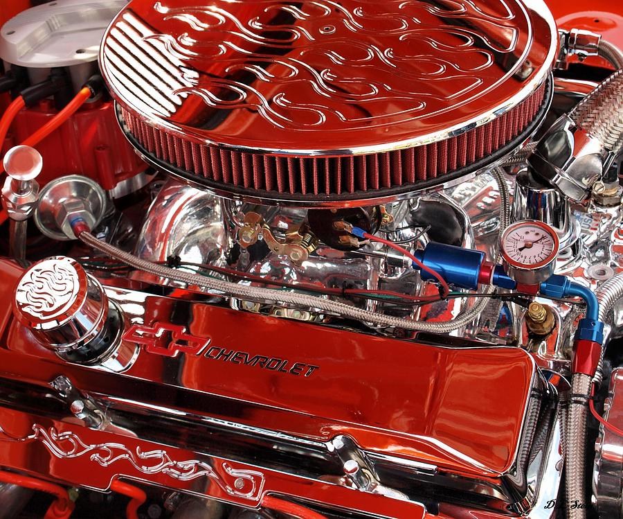 Chevrolet Photograph - Classic Chevrolet Engine by Dennis Stein