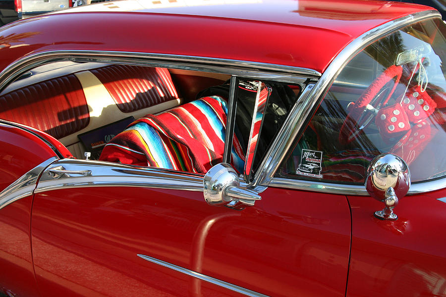 Red Photograph - Classic Chevy by Carl Purcell