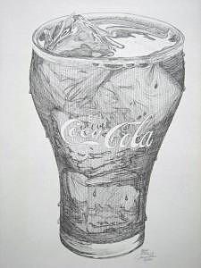 Limited Edition Drawing - Classic Coke by Joanie Arvin