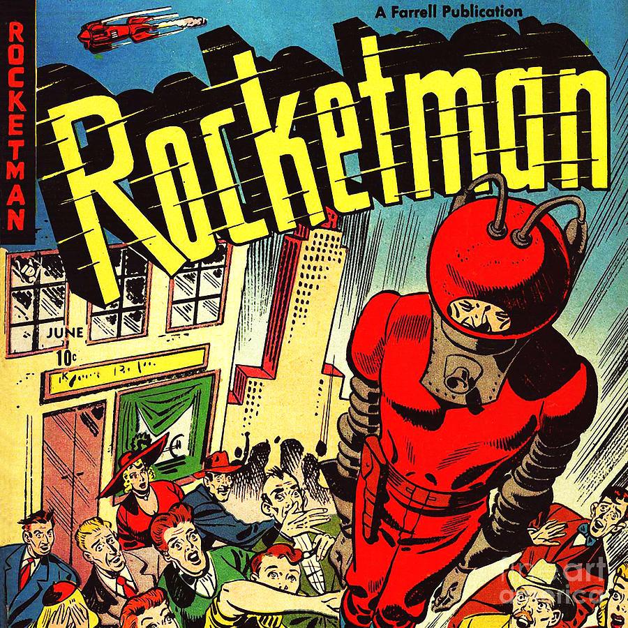 Classic Comic Book Cover Rocketman June Square Photograph by ...