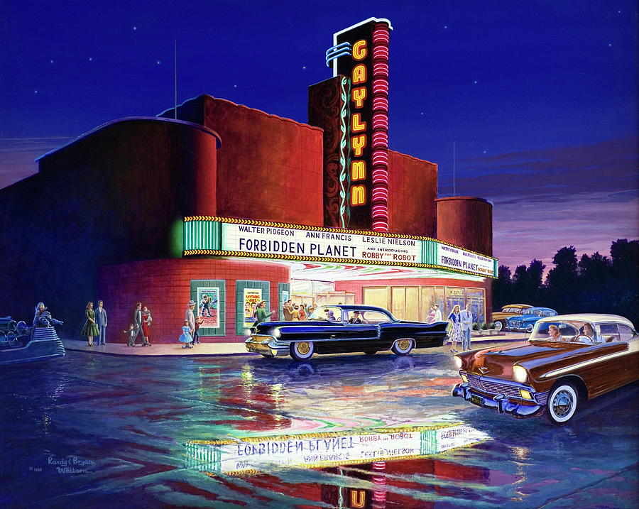 Theatre Painting - Classic Debut -  The Gaylynn Theatre by Randy Welborn