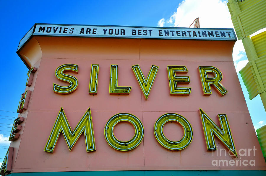 Neon Lights Photograph - Classic Drive Inn Movie Marquee by David Lee Thompson