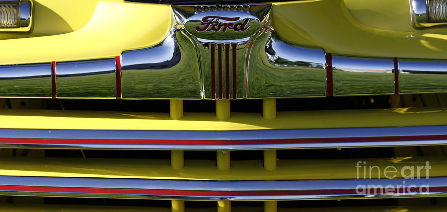 Classic Ford Chrome Grill by Richard Lynch