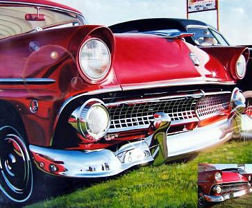 Oil Painting - Classic Ford by Counterparts Original