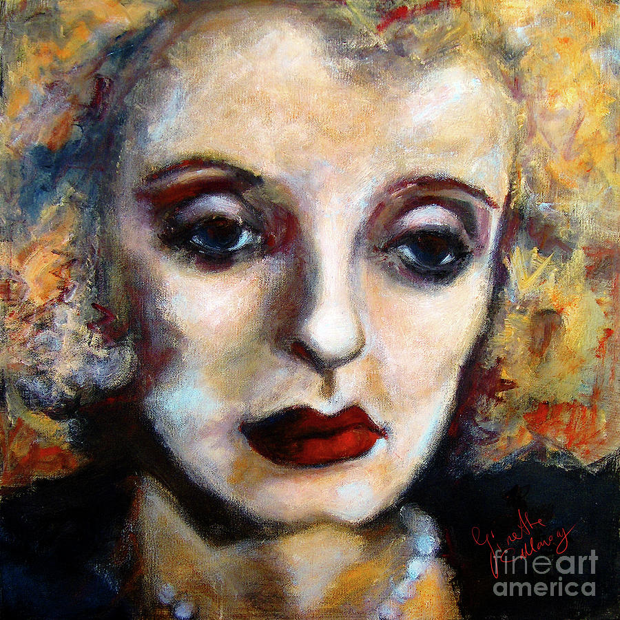 classic hollywood movie stars bette davis painting by