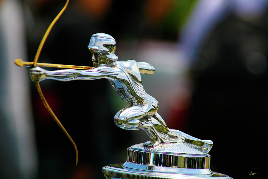 Classic Cars Photograph - Pierce Arrow Hood Ornament by Ave Guevara