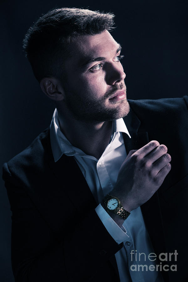 Male Photograph - Classic Male Model by Amanda Elwell