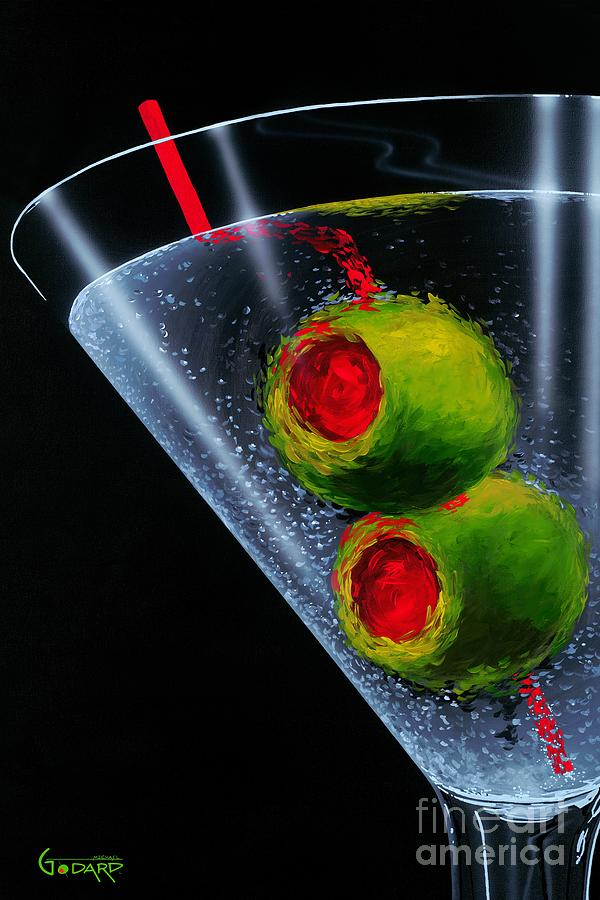 Martini Painting - Classic Martini by Michael Godard