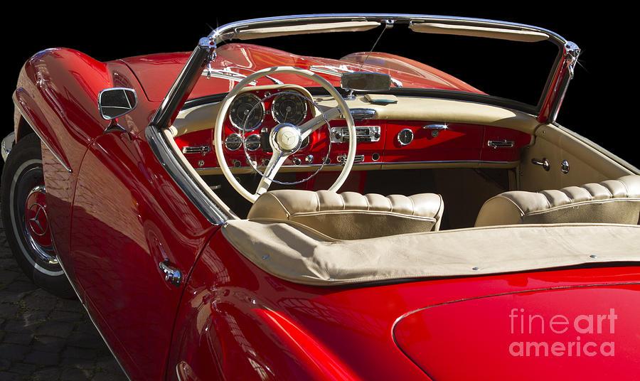 White Photograph - Classic Mercedes Benz 190 Sl 1960 by Heiko Koehrer-Wagner