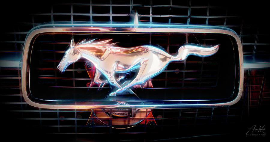 Classic Mustang Logo Photograph