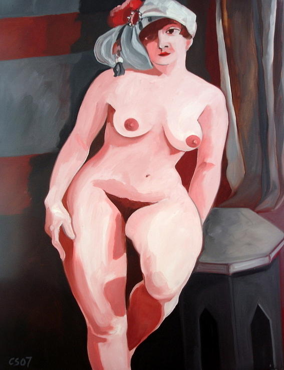 Nude Painting - Classic Nude 2 by Carmen Stanescu Kutzelnig