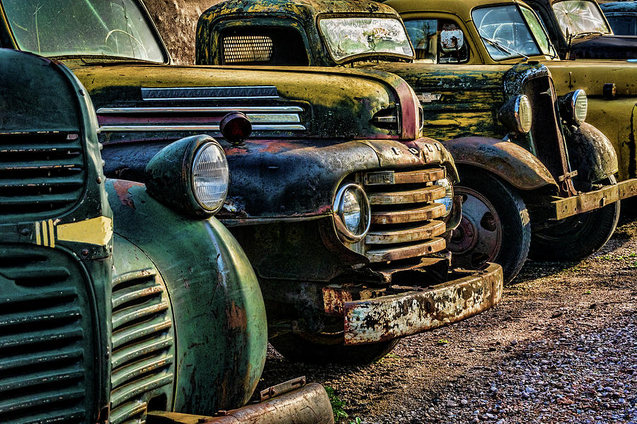 Classic Old Pickup Trucks In Hdr Photograph By Straublund Photography