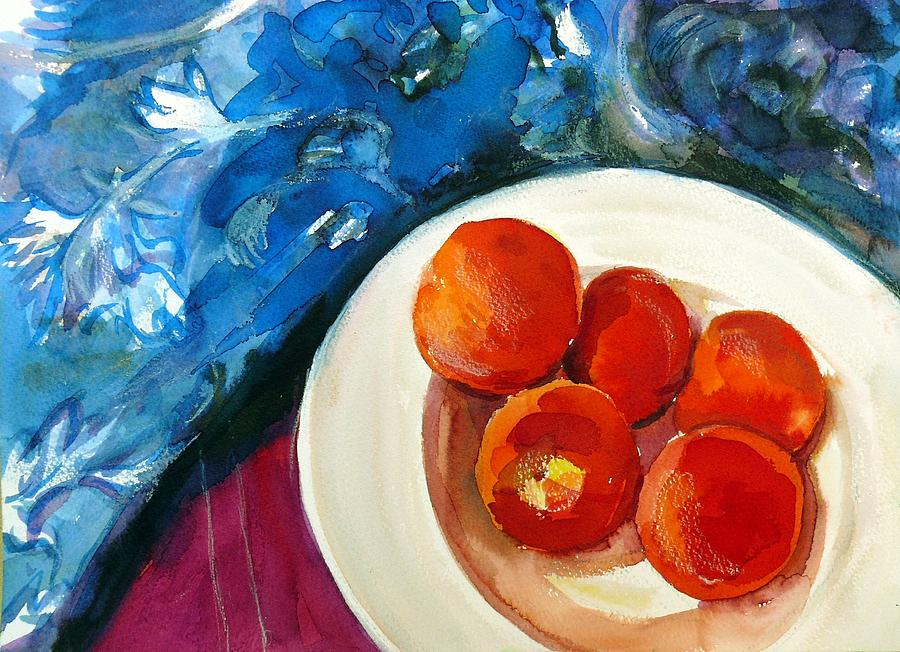 Still Life Painting - Classic Peaches by Doranne Alden