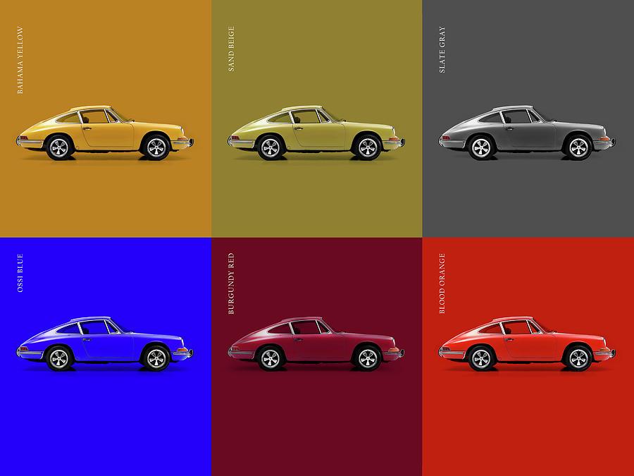 Classic Porsche 911 Colours Photograph By Mark Rogan