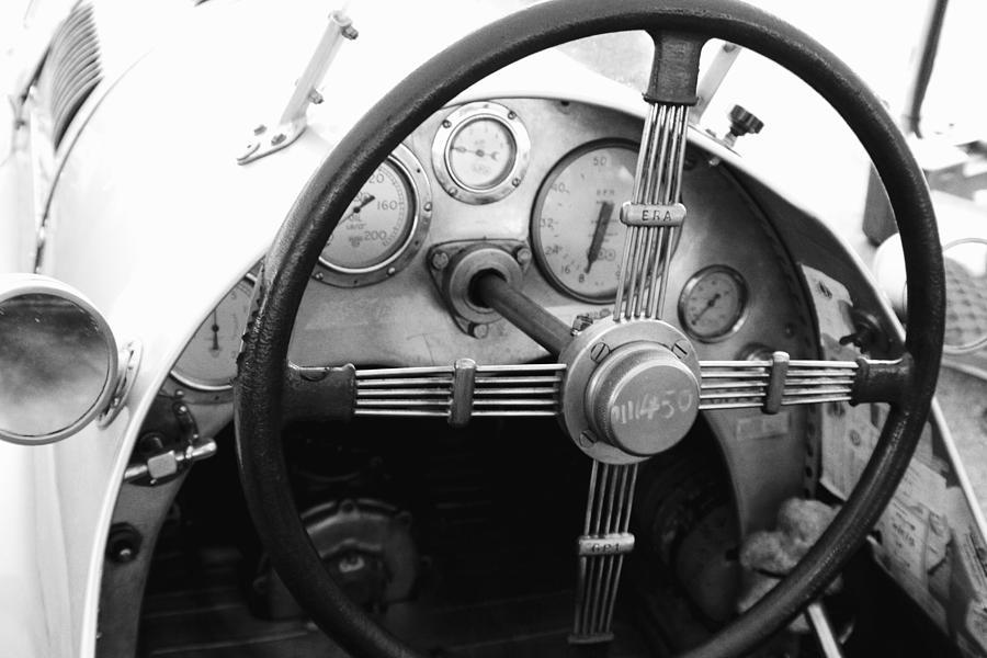 Classic Racing Car Cockpit