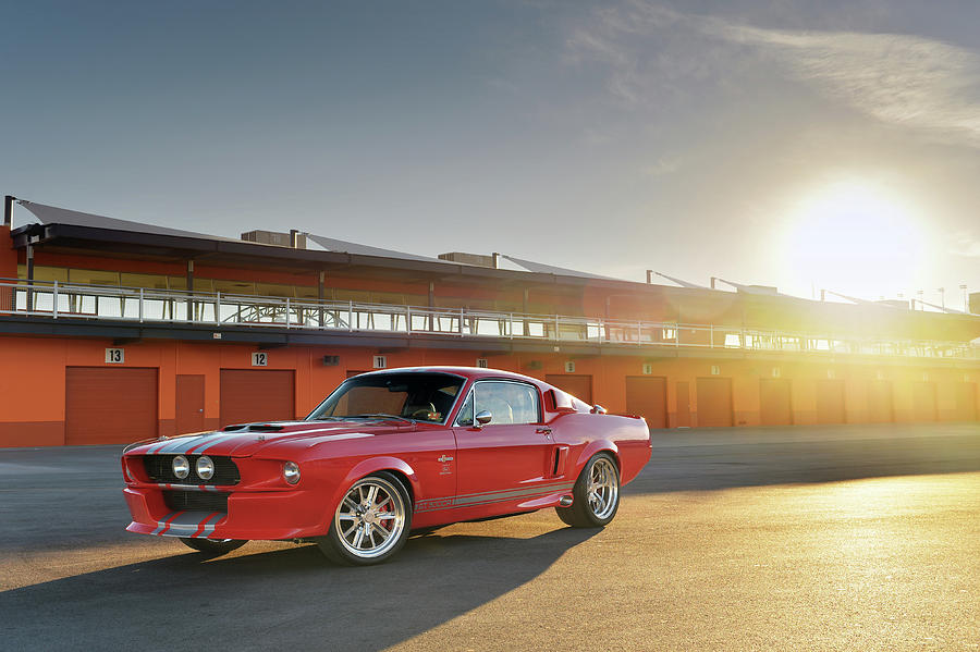 Shelby Photograph - Classic Recreations Shelby Gt500cr by Drew Phillips