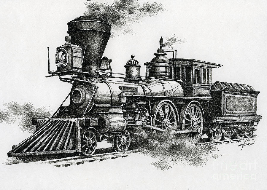 Pen Painting - Classic Steam by James Williamson