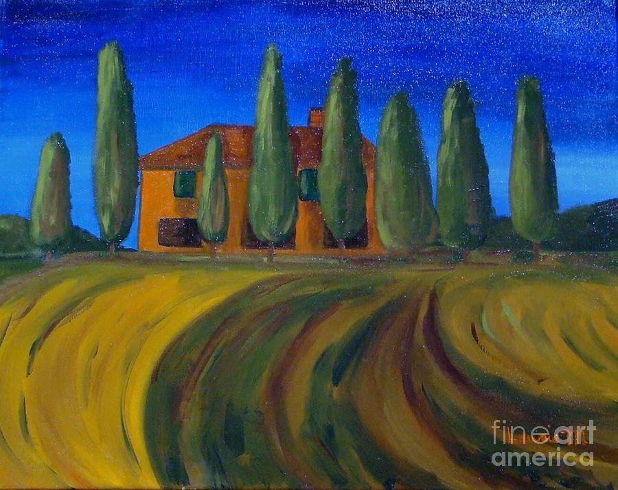Tuscany Painting - Classic Tuscan Sunset by Laurie Morgan