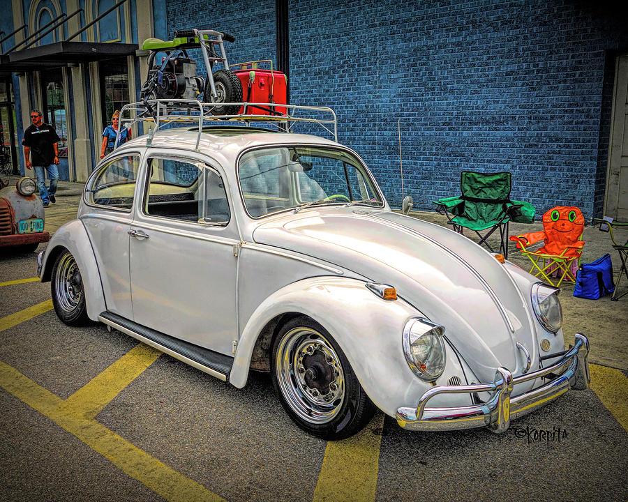 Classic Volkswagen Beetle - Cruising the Coast by Rebecca Korpita