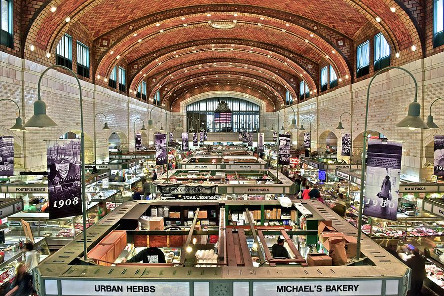 Cleveland Photograph - Classic Westside Market by Frozen in Time Fine Art Photography