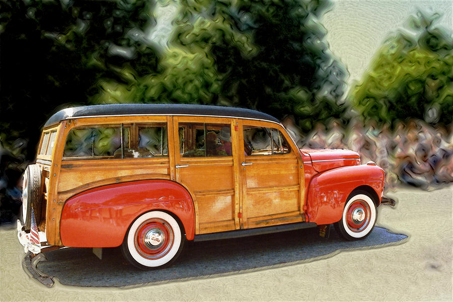 Classic Woody Station Wagon Photograph by Roger Soule