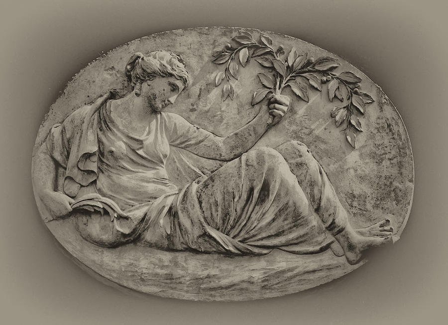 Greek Photograph - Classical Greek Woman Fresco by Bill Cannon