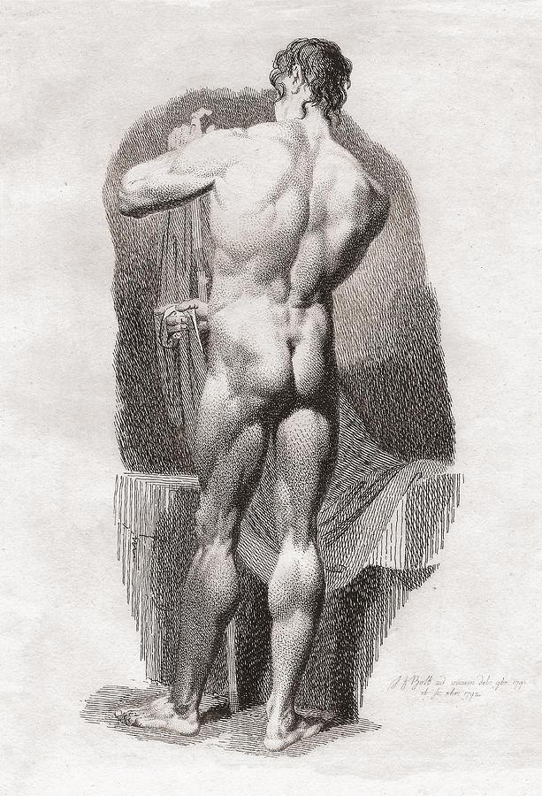 Classical Male Nude Digital Art