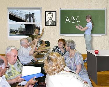 Classroom Digital Art - Classroom by Julia Bedriy