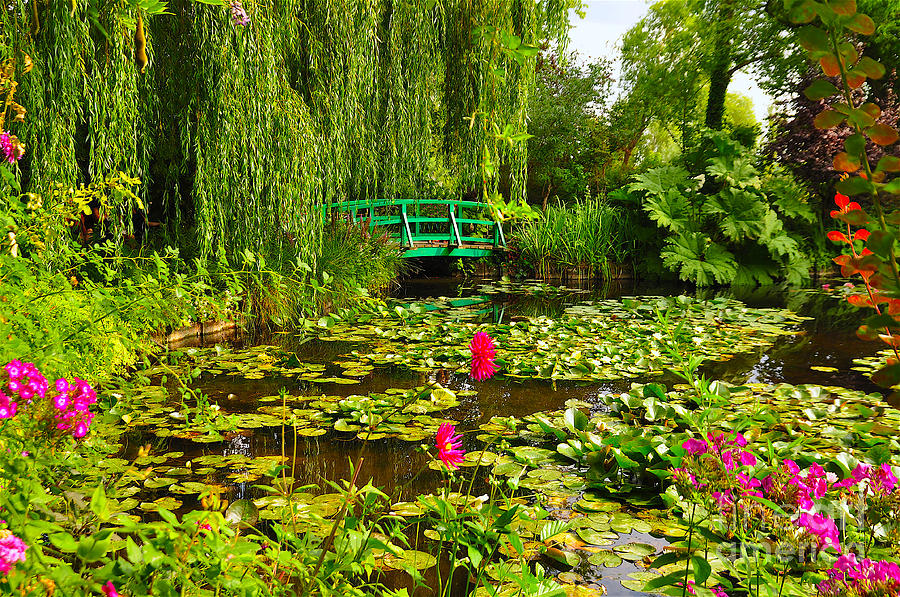Claude Monet Gardens At Giverny, Paris Photograph by Rolando Urrios