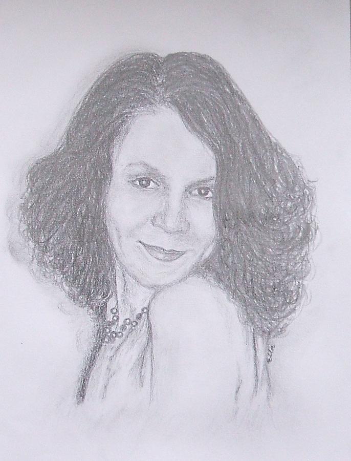 Portrait Drawing - Claudia by Mihaela Sebeni