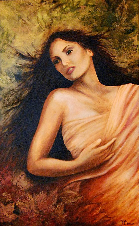 Earth Mother Painting - Claudia by Patricia Ann Dees
