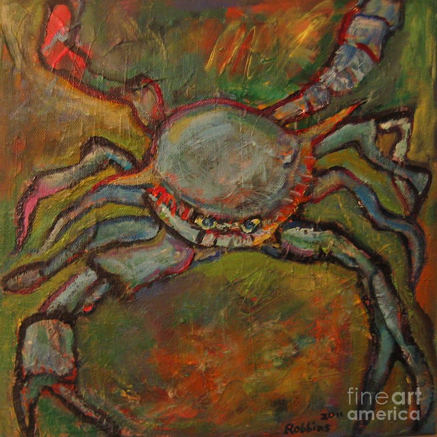 Crab Painting - Clawdius by Marlene Robbins