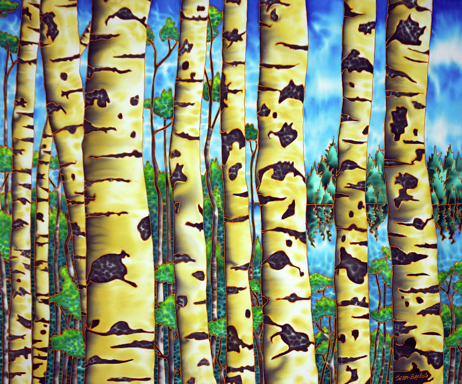Silk Painting Painting - Clay Bank Birch by Daniel Jean-Baptiste