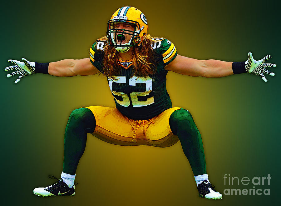 Graphics Photograph - Clay Matthews by Herb Paynter