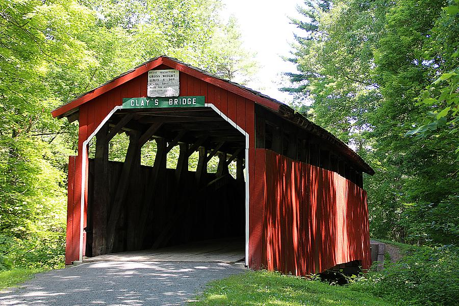 Clay's Covered Bridge by Wayne Toutaint