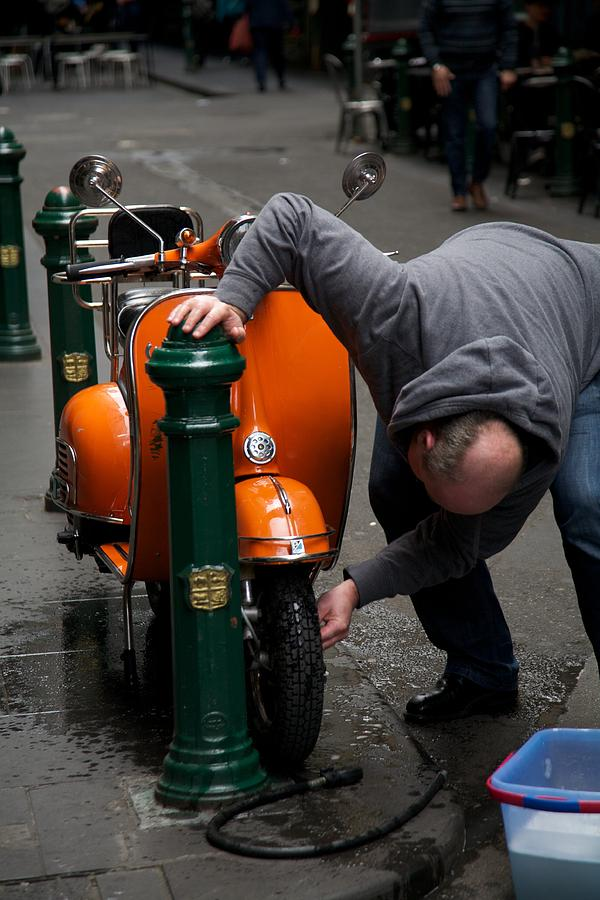 Australia Photograph - Clean Vespa by Lee Stickels