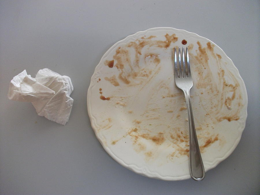 Cleaned Photograph - Clean Your Plate by Joshua Sunday