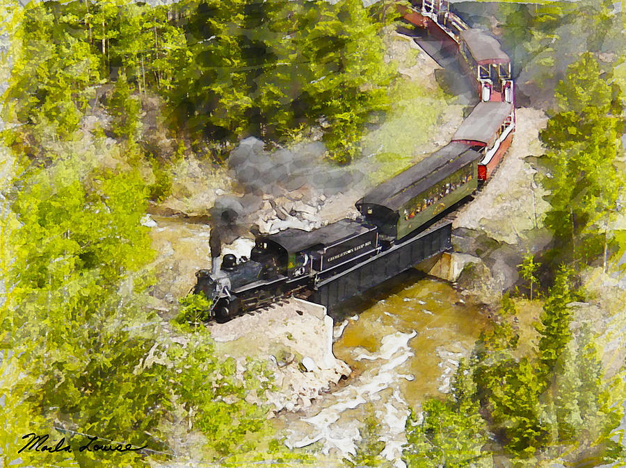 Railroad Photograph - Clear Creek Crossing by Marla Louise