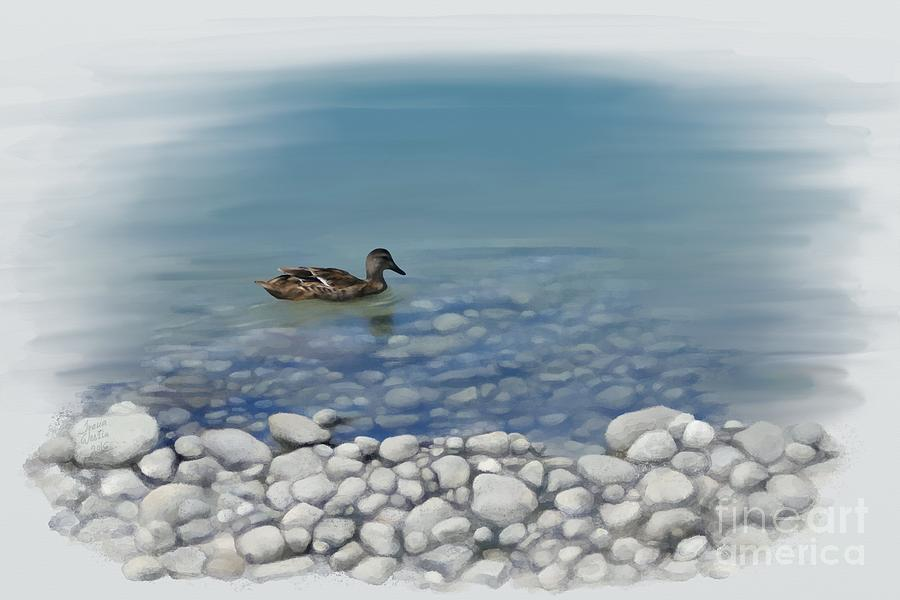 Duck Painting - Clear Water  by Ivana Westin