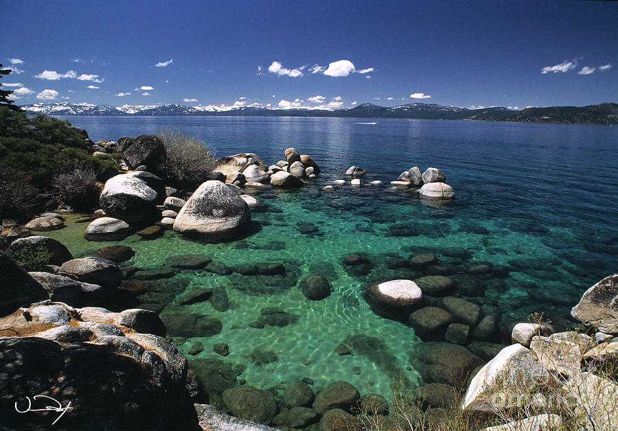 Clear Water Photograph - Clear Water Lake Tahoe by Vance Fox