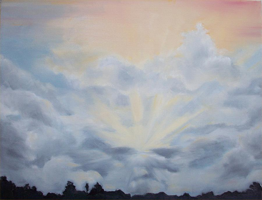 Skyscape Painting - Clearing by Irene Corey