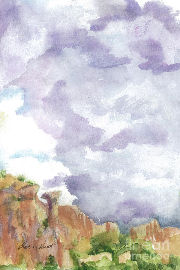 Clearing Skies in Sedona by Maria Hunt