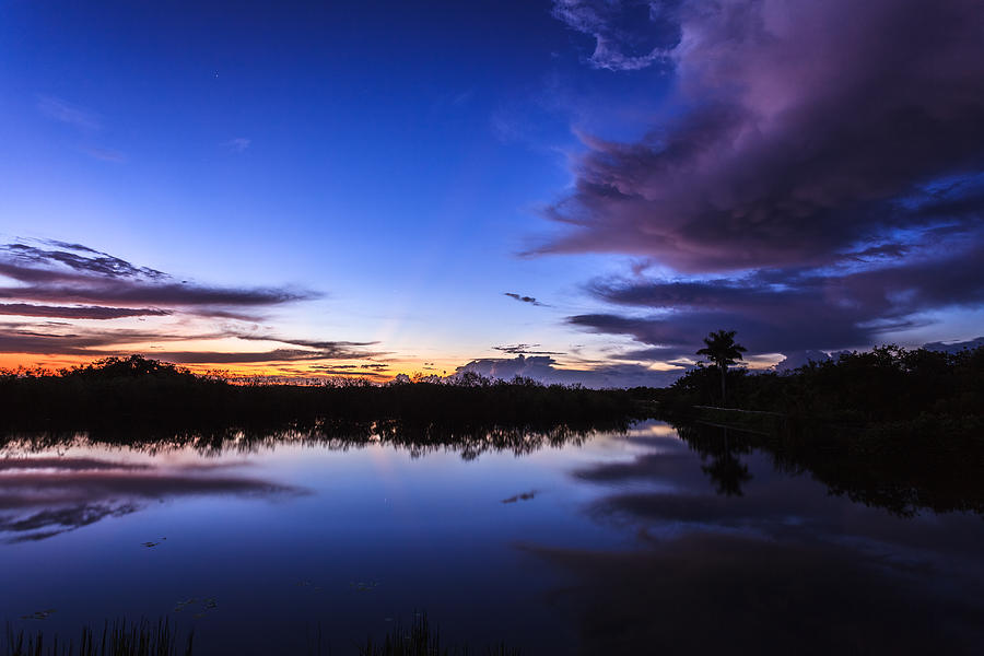 Anhinga Trail Photograph - Clearing Storm Over The Anhinga Trail by Jonathan Gewirtz