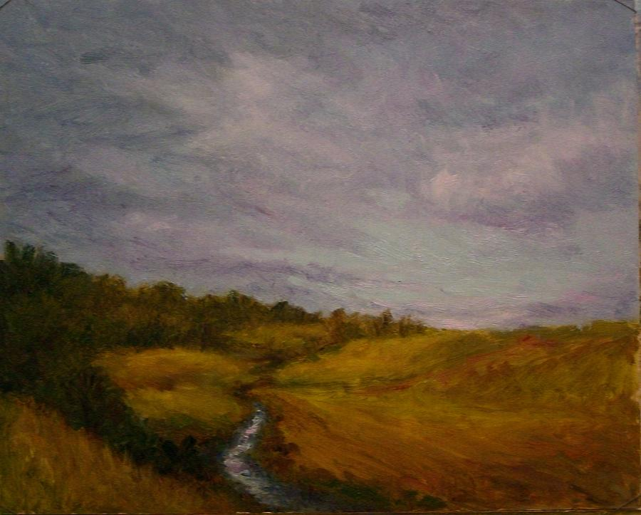 Landscape Painting - Clearing Storm Stanford Hills by Carolyn Jones