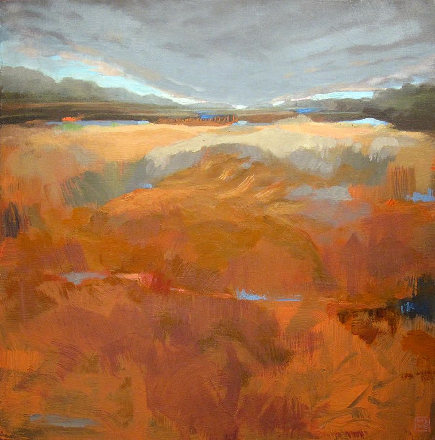 Landscape Painting - Clearly, Something Happened Here by Mary Brooking