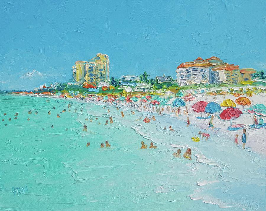 Beach Painting - Clearwater Beach Florida by Jan Matson