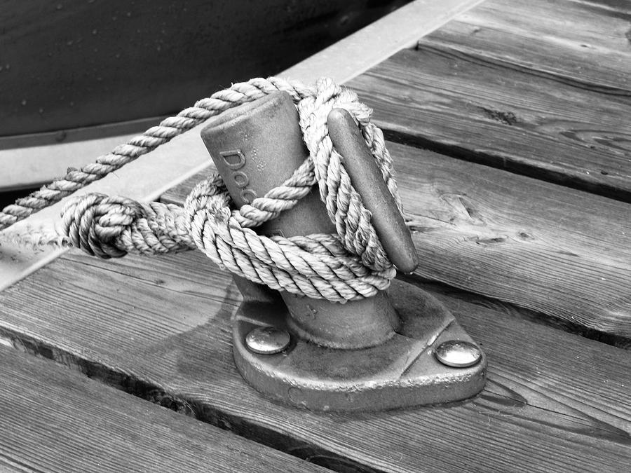 Dock Photograph - Cleat by Juli Kreutner