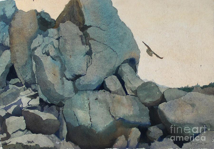 Landscape Painting - Cleft For Me by Elizabeth Carr