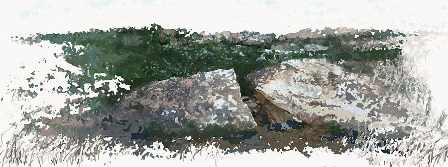 Natural Elements Painting - Cleft Rock by Ronald Rosenberg